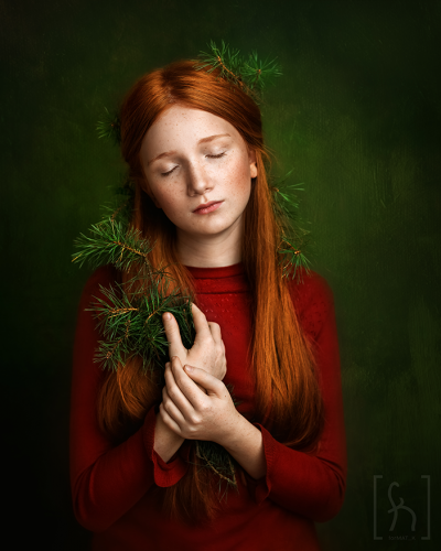 sesja-świąteczna-portret-nastolatka-Łódź